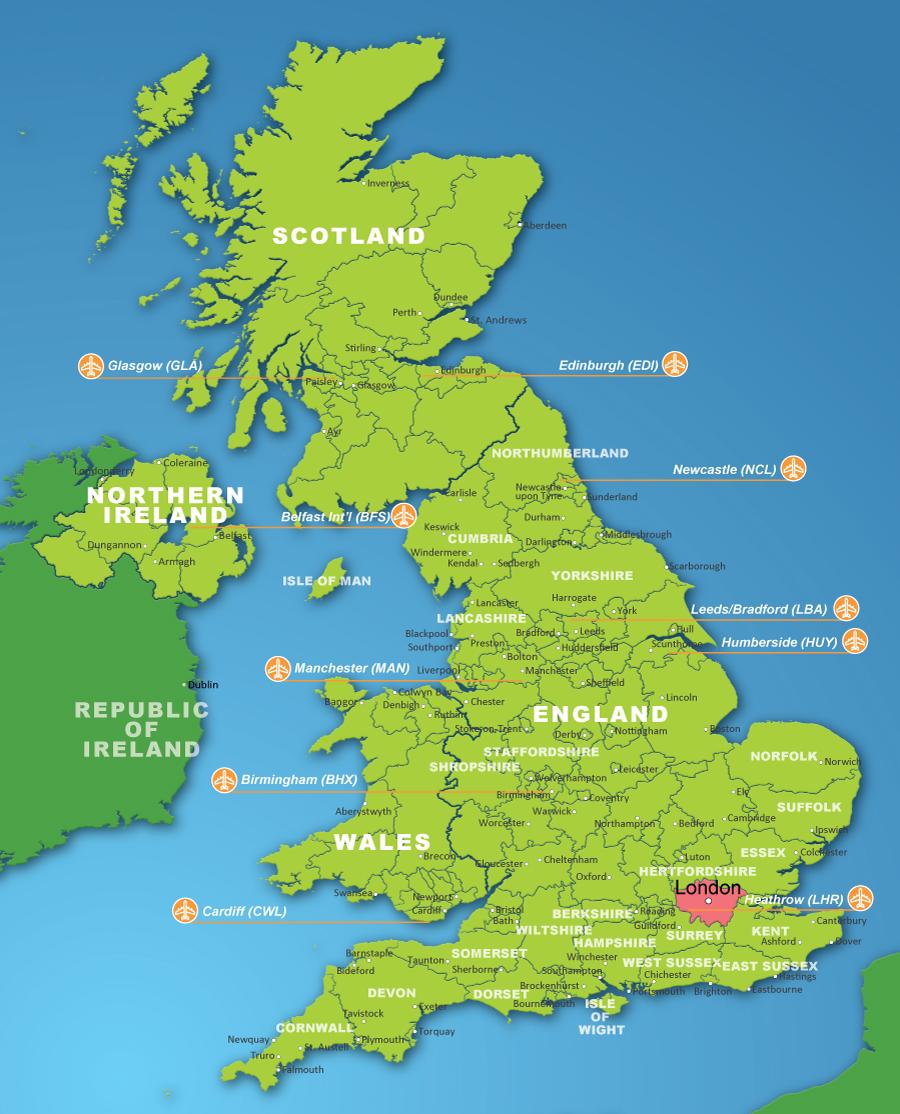 英国地形图简笔画